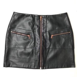 KENDALL & KYLIE Black Faux Leather Skirt